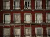 Balconies Overlooking Plaza Mayor  Madrid  Spain