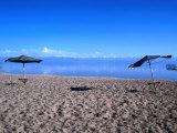 Sand beach  Kyrgyzstan