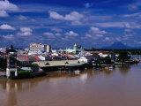 Kuching Cityscape on South Bank of Sungai Sarawak  Kuching  Sarawak  Malaysia