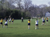Girls Playing Lacrosse