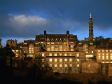 St Andrew's House and Monuments on Calton Hill  Edinburgh  United Kingdom