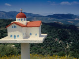 Road Shrine in Lefka Ori Mountains  Crete  Greece