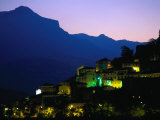 Appenines Hill Village at Dusk  Montefortino  Marche  Italy
