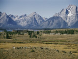 Jackson Lake Lodge Has a Magnificent View Across Jackson Lake Toward the Tetons