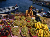 Vendor Selling Fruit at the Fish Market  Tripoli  Tarabulus  Libya