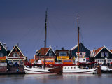 Waterfront Houses and Boats  Volendam  Netherlands