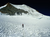 Mountaineer on Final Leg to Summit  Huayna Potosi  Bolivia