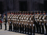 Changing of Palace Guard at Plaza De La Constitution  Santiago  Chile