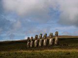 Stone Statues Called Moai Dot the Landscape of Easter Island