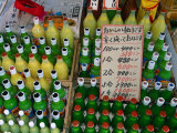 Bottles of Drink for Sale at the Asa-Ichi or Morning Market  Kochi  Shikoku  Japan
