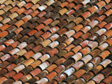 Traditional Terracotta Tiled Roof on a House  Algatocin  Andalucia  Spain