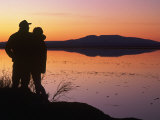 Silhouette of Couple  Turnagain Arm Anchorage  AK
