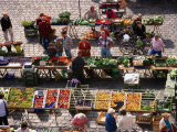 Food Market in Central Square  Freising  Germany