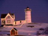Nubble Lighthouse  Sunset  Christmas  York  ME