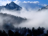 Clouds Surrounding White Cloud Mountains  USA