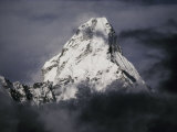 View of Ama Dablam Wreathed in Clouds