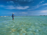 Man in Water Bone Fishing