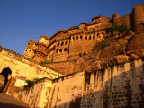 Menerangarh Fort in Sunlight  Jodhpur  Rajasthan  India