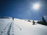 A Backcountry Skier on Yellow Mountain
