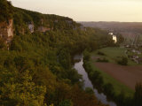 A View of the Vezere River Valley and the Cliffs of Les Eyzies