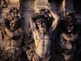 Satyr Pilasters Decorating the Exterior of the Zwinger Museum