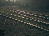 Morning Sun Highlights the Tracks of This Railroad That Runs Through Santa Fe  New Mexico