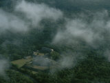 Aerial of the Ruins of a Mayan City Located Deep in the Forest