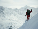 A Skier Traversing the Flank of Mount Belford