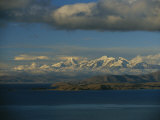 A View of Lake Titicaca Across to the Snow-Capped Andes Mountains