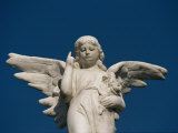 A Statue of an Angel Pointing Skyward