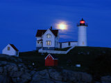 Moonrise over the Nubble Lighthouse