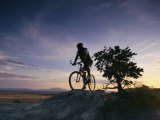 Cyclist at Sunset  Northern Arizona