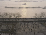Morning Exercises on the Edge of the Huang Pu River in Shanghai