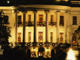 The White House South Portico is Ablaze with Light During the Christmas Holiday