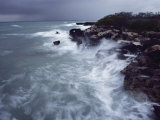 Surf Lashes a Rocky Shore