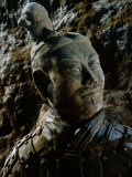 Close View of the Head of One of the Terra-Cotta Warriors