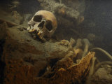 A Human Skull Lies Inside the Wreckage of a German U-Boat