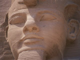 A Close View of the Carved Face of Ramses Ii
