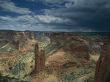 Scenic View of the Canyon and Spider Rock