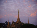 Royal Palace Rooftop at Dawn  Phnom Penh  Cambodia