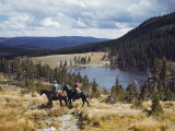 Two Horsemen Ride Above Pecos Baldy Lake