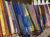 Colored Scarves Await Buyers at the Kom Ombo Marketplace