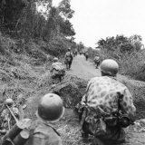 A View of French Troops Fighting in Vietnam in the 1950s