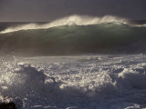 Surf Pounds a Beach in Hawaii