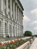 A Flower-Bordered Terrace of the Capitol Building