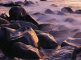 Sunlit Rocks in Surf and Spray  Jasmund National Park  Germany