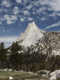 View of Cathedral Peak in the Sierra Nevada Mountains