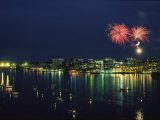 Fireworks over Halifax Harbor Celebrate Canada Day