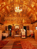 Interior of Wooden Church of Bezded in Salaj County  Sibiu  Romania