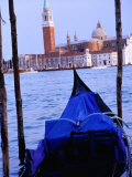 Looking Out from San Marco Over Gondola  Venice  Italy